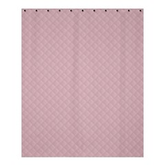 Baby Pink Stitched and Quilted Pattern Shower Curtain 60  x 72  (Medium)