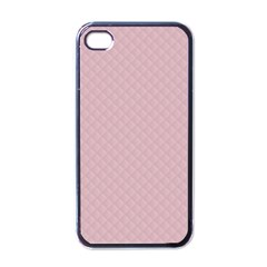 Baby Pink Stitched and Quilted Pattern Apple iPhone 4 Case (Black)