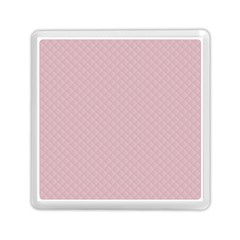 Baby Pink Stitched and Quilted Pattern Memory Card Reader (Square)