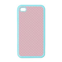 Baby Pink Stitched and Quilted Pattern Apple iPhone 4 Case (Color)
