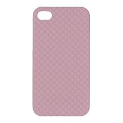 Baby Pink Stitched and Quilted Pattern Apple iPhone 4/4S Hardshell Case