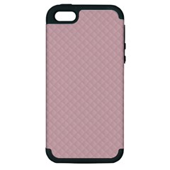Baby Pink Stitched and Quilted Pattern Apple iPhone 5 Hardshell Case (PC+Silicone)