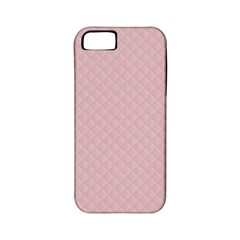 Baby Pink Stitched and Quilted Pattern Apple iPhone 5 Classic Hardshell Case (PC+Silicone)
