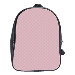 Baby Pink Stitched and Quilted Pattern School Bags (XL)