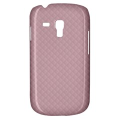 Baby Pink Stitched and Quilted Pattern Galaxy S3 Mini