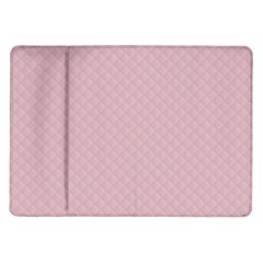 Baby Pink Stitched and Quilted Pattern Samsung Galaxy Tab 10.1  P7500 Flip Case