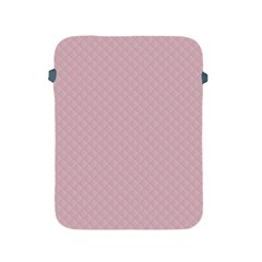 Baby Pink Stitched and Quilted Pattern Apple iPad 2/3/4 Protective Soft Cases