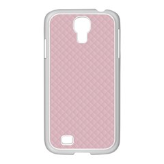 Baby Pink Stitched And Quilted Pattern Samsung Galaxy S4 I9500/ I9505 Case (white)