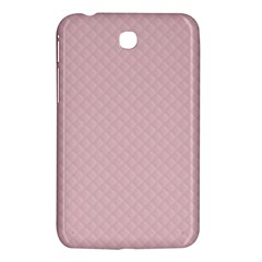 Baby Pink Stitched and Quilted Pattern Samsung Galaxy Tab 3 (7 ) P3200 Hardshell Case