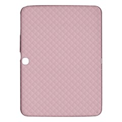 Baby Pink Stitched and Quilted Pattern Samsung Galaxy Tab 3 (10.1 ) P5200 Hardshell Case
