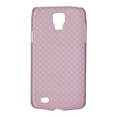 Baby Pink Stitched and Quilted Pattern Galaxy S4 Active
