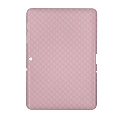 Baby Pink Stitched and Quilted Pattern Samsung Galaxy Tab 2 (10.1 ) P5100 Hardshell Case