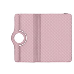 Baby Pink Stitched and Quilted Pattern Kindle Fire HDX 8.9  Flip 360 Case
