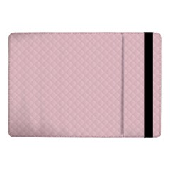 Baby Pink Stitched and Quilted Pattern Samsung Galaxy Tab Pro 10.1  Flip Case