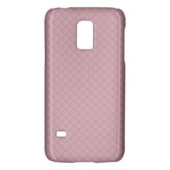 Baby Pink Stitched and Quilted Pattern Galaxy S5 Mini