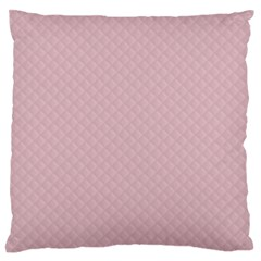 Baby Pink Stitched and Quilted Pattern Large Flano Cushion Case (Two Sides)