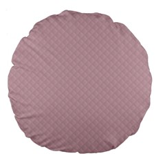 Baby Pink Stitched and Quilted Pattern Large 18  Premium Flano Round Cushions