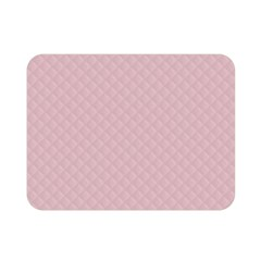 Baby Pink Stitched and Quilted Pattern Double Sided Flano Blanket (Mini)