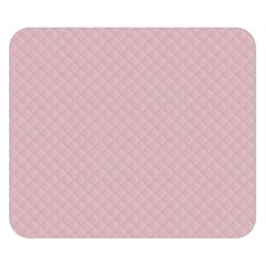 Baby Pink Stitched and Quilted Pattern Double Sided Flano Blanket (Small)