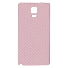 Baby Pink Stitched and Quilted Pattern Galaxy Note 4 Back Case