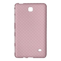 Baby Pink Stitched and Quilted Pattern Samsung Galaxy Tab 4 (8 ) Hardshell Case