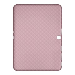 Baby Pink Stitched and Quilted Pattern Samsung Galaxy Tab 4 (10.1 ) Hardshell Case
