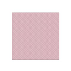 Baby Pink Stitched and Quilted Pattern Satin Bandana Scarf