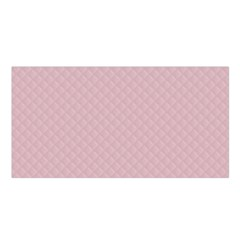 Baby Pink Stitched and Quilted Pattern Satin Shawl
