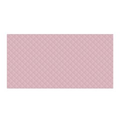 Baby Pink Stitched and Quilted Pattern Satin Wrap