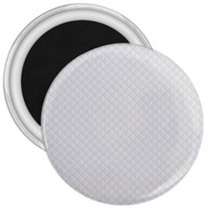 Bright White Stitched and Quilted Pattern 3  Magnets