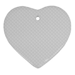 Bright White Stitched and Quilted Pattern Ornament (Heart)