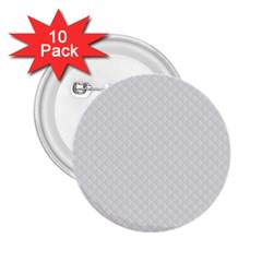 Bright White Stitched and Quilted Pattern 2.25  Buttons (10 pack)