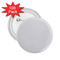 Bright White Stitched and Quilted Pattern 2.25  Buttons (100 pack)