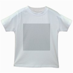 Bright White Stitched and Quilted Pattern Kids White T-Shirts