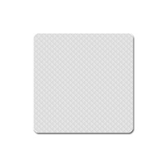 Bright White Stitched and Quilted Pattern Square Magnet