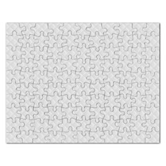 Bright White Stitched and Quilted Pattern Rectangular Jigsaw Puzzl