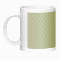 Bright White Stitched and Quilted Pattern Night Luminous Mugs