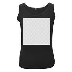 Bright White Stitched and Quilted Pattern Women s Black Tank Top