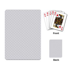 Bright White Stitched and Quilted Pattern Playing Card