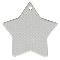 Bright White Stitched and Quilted Pattern Star Ornament (Two Sides)