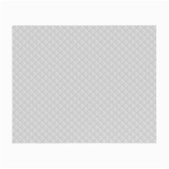 Bright White Stitched and Quilted Pattern Small Glasses Cloth (2-Side)