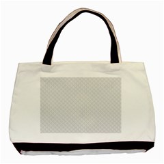 Bright White Stitched and Quilted Pattern Basic Tote Bag (Two Sides)