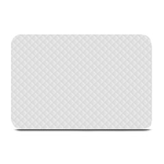 Bright White Stitched and Quilted Pattern Plate Mats