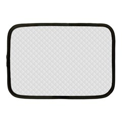 Bright White Stitched and Quilted Pattern Netbook Case (Medium)