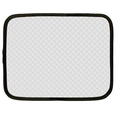 Bright White Stitched and Quilted Pattern Netbook Case (Large)