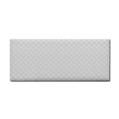 Bright White Stitched and Quilted Pattern Cosmetic Storage Cases