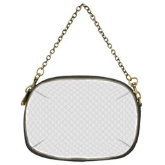 Bright White Stitched and Quilted Pattern Chain Purses (Two Sides)