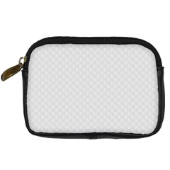 Bright White Stitched and Quilted Pattern Digital Camera Cases