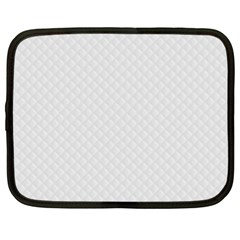 Bright White Stitched and Quilted Pattern Netbook Case (XL)