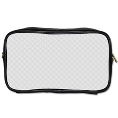 Bright White Stitched and Quilted Pattern Toiletries Bags